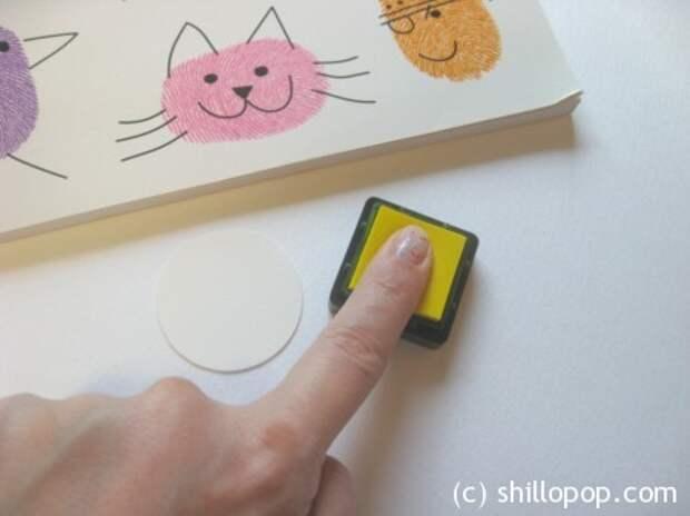 Веселые отпечатки - игра мемори своими руками