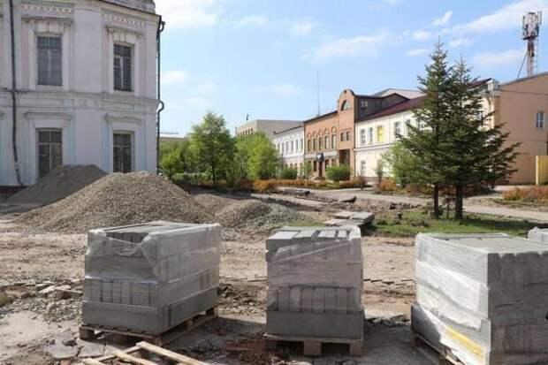 В исторической части Уссурийска проходят строительные работы