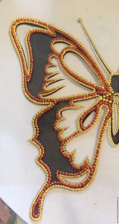Декорируем тарелку «Бабочка»