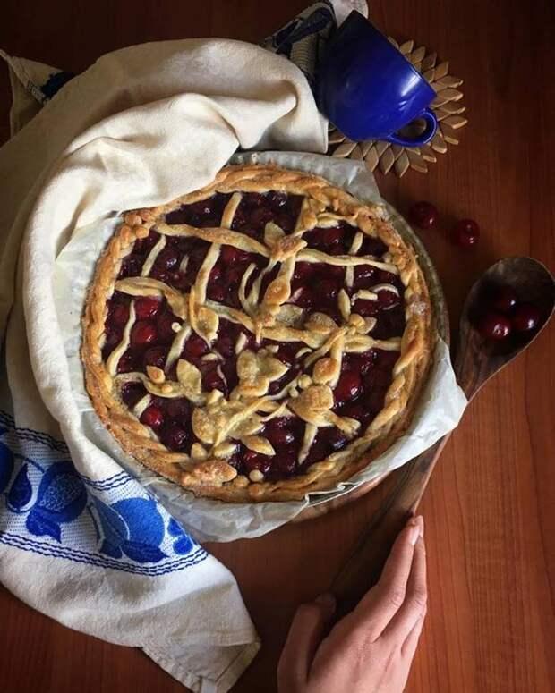 Рецепт вишневого пирога Рецепт, Пирог, Рецепт вишневого пирога, Десерт, Пирог как у бабушки, Извините за длиннопост, Длиннопост