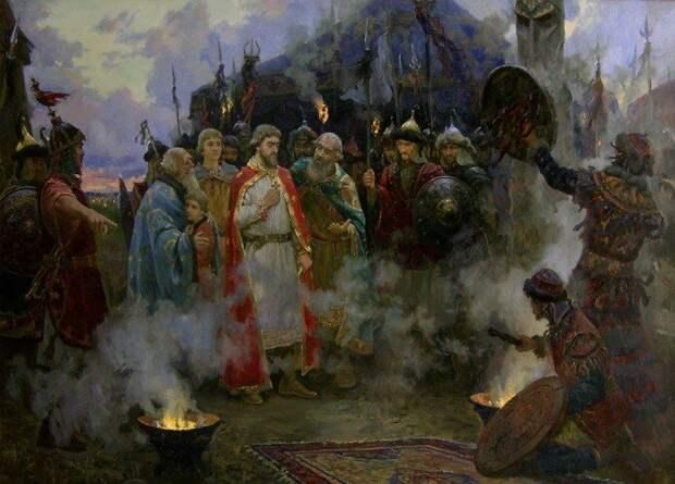 """картина """"А. Невский в Золотой Орде"""" - проходит через очищающий огонь"""
