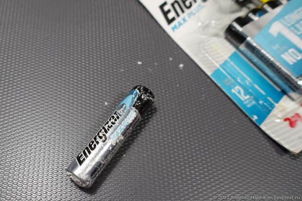 Начинаю тест старения батареек