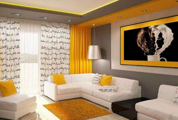 Светлая гостиная с диванами. | Фото: Идеи для дома.