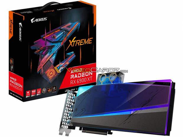 Карта Gigabyte Radeon RX 6900 XT Aorus Xtreme WaterForce WB будет оснащена водоблоком