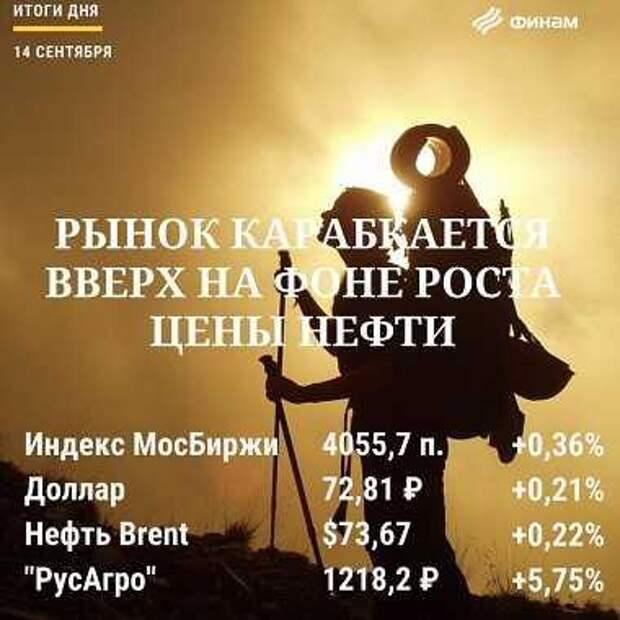 Итоги дня, 14 сентября: Российский рынок растет третью сессию подряд