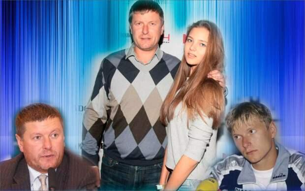 Коллаж автора - Евгений Кафельников с дочкой