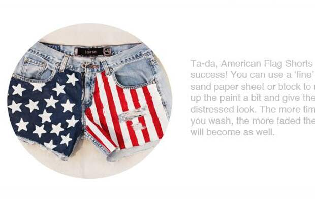 Шорты с американским флагом своими руками DIY