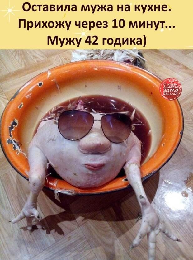 Возможно, это изображение (еда и текст «оставила мужа на кухне. прихожу через 10 минут... мужу 42 годика) снами зато весело! 2»)