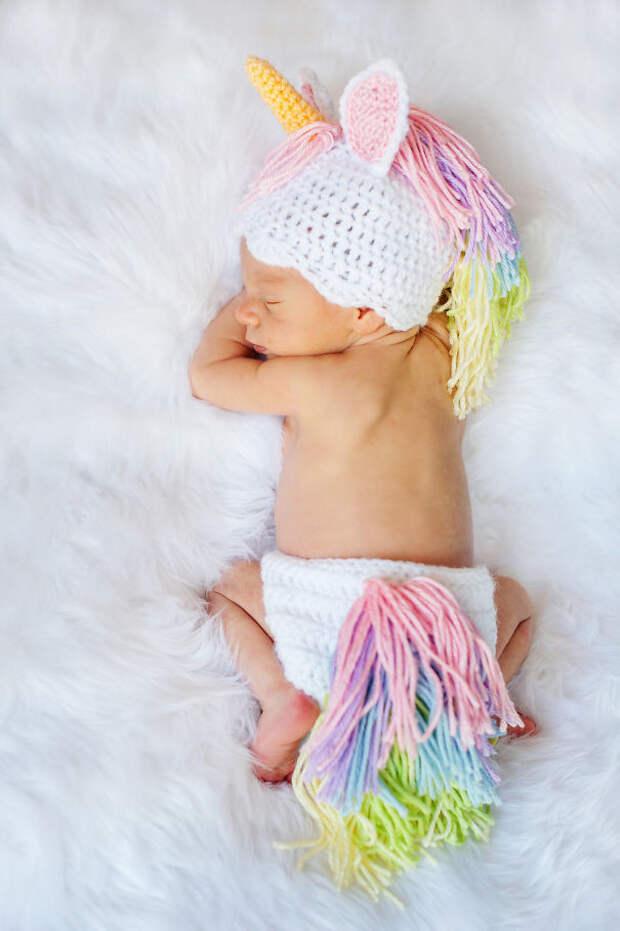 Малыш-единорог вязание, новый год, подарки