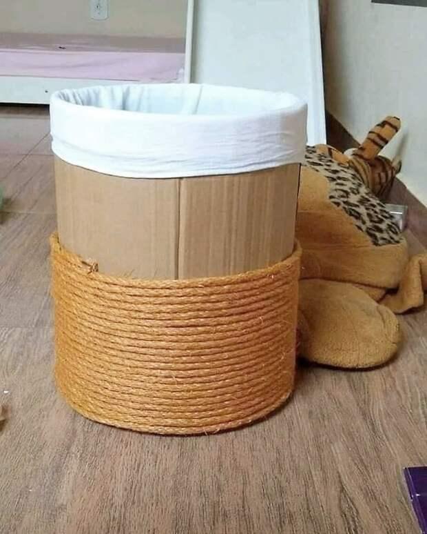 Как быстро сделать красивую корзину своими руками из веревки
