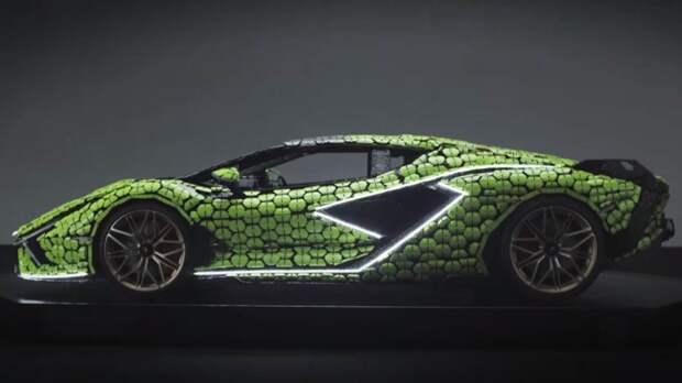 Компания Lego продемонстрировала полноразмерную копию Lamborghini