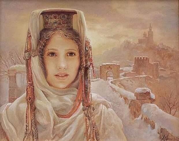 Художник Maria Ilieva. Нежные цветы Болгарии