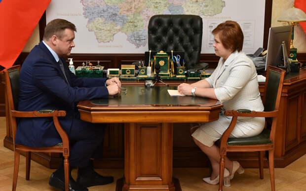 Любимов провёл первую рабочую встречу с мэром Рязани после её критики депутатом Госдумы