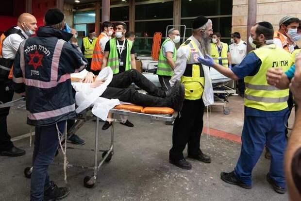 Появилось видео с давкой во время религиозного праздника в Израиле, есть погибшие
