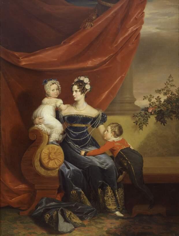 Д. Доу. Портрет Александры Федоровны с детьми. <br>