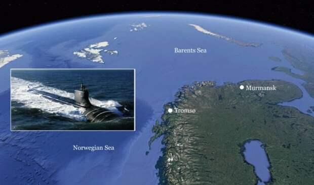 Ядерная подлодка США впервые планирует заход внорвежский порт Тромсё