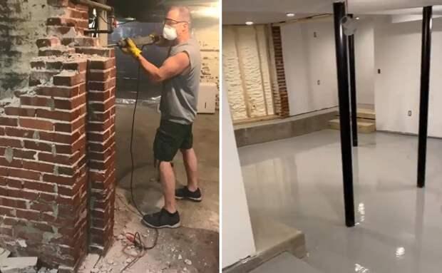 Мужчина так увлекся ремонтом дома, что превратил свой подвал в ночной клуб