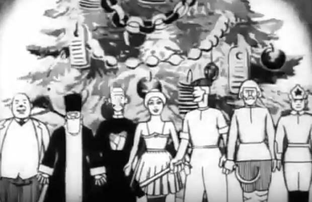 Это чуть ли не первый наш мультфильм на новогоднюю тематику