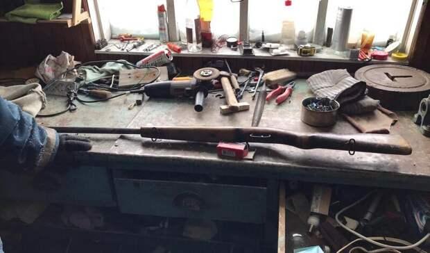 ВКрасногвардейском районе нашли боевую винтовку спатронами
