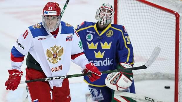 Сборная России вела 5:2, но чуть не отдала матч шведам. За полторы недели до ЧМ наши побеждают на Евротуре