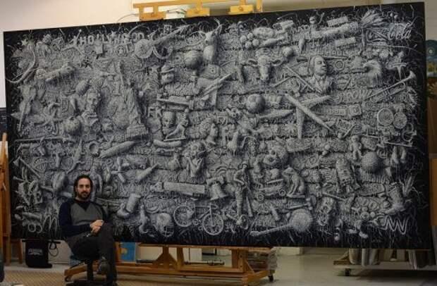 """""""Плетёные"""" картины от кубинского художника Алекси Торреса"""