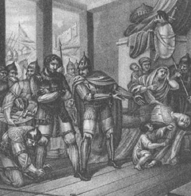 Ярополк укоряет Свенельда за смерть Олега (Иллюстрация из открытых источников)