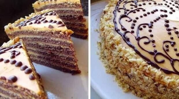 Шоколадный торт со сгущёнкой. Гости потребуют еще один кусочек 2