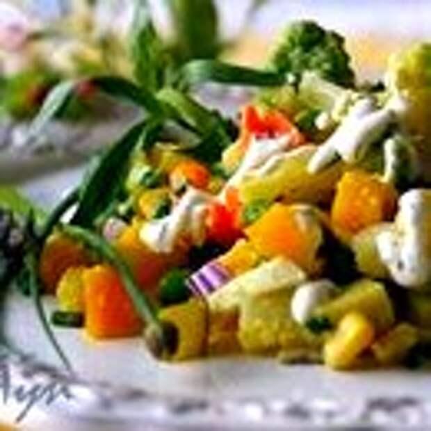 Салат Оливье с цветной капустой