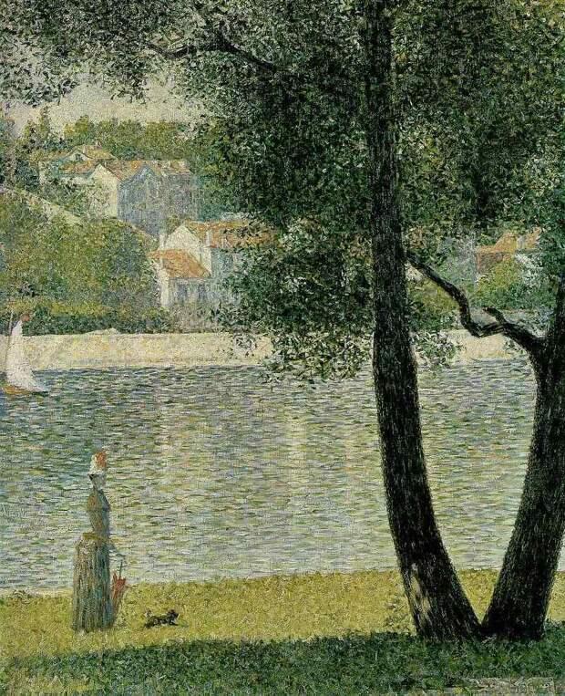 Seurat The Seine at Courbevoie, 1885. Сера, Жорж