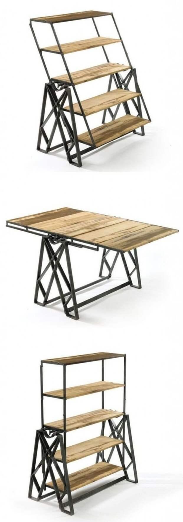 Трансформеры - в случае, если вам нужна лестница, или полка, или стол. Фабрика идей, интересное, мебель, полезное, трансформеры, эргономичность