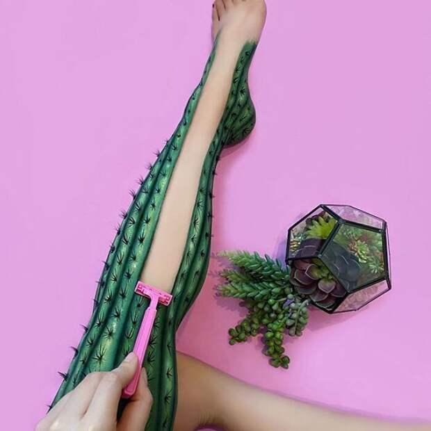 Оптические иллюзии насобственном теле отгения визажа Мими Чой