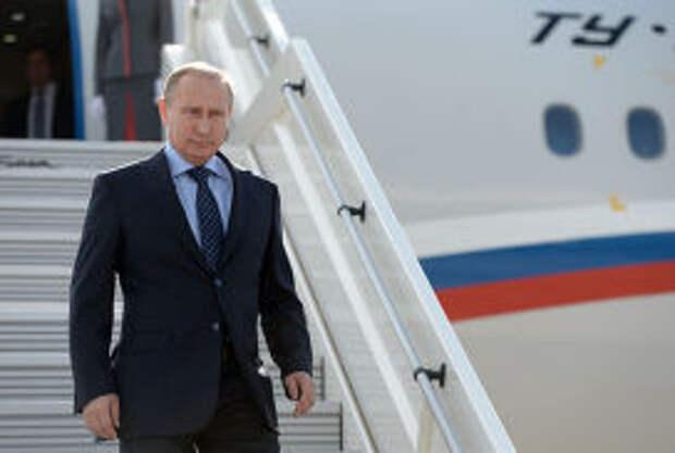 Владимир Путин прибывает в Самару