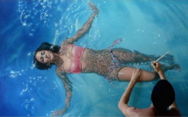 Девушки в воде на картинах Густаво Сильвы Нуньеса (Gustavo Silva Nunez)