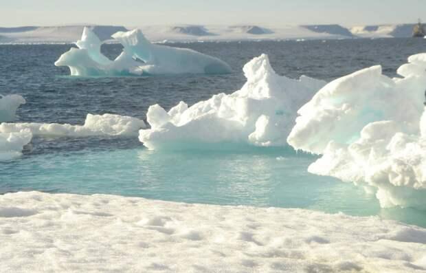 Морской лед в Арктике тает в два раза быстрее, чем ожидалось