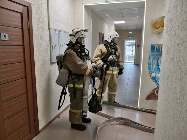 Спасатели тренировались тушить пожар на территории ТРК «Крым»