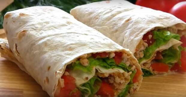 «Тако» из лаваша — вкусный перекус за 15 минут