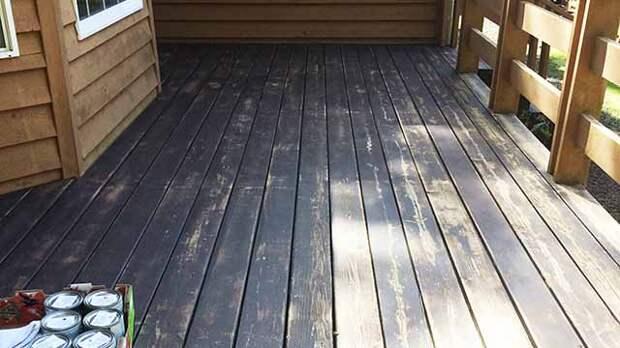 Деревянный пол на даче: красим не как у всех
