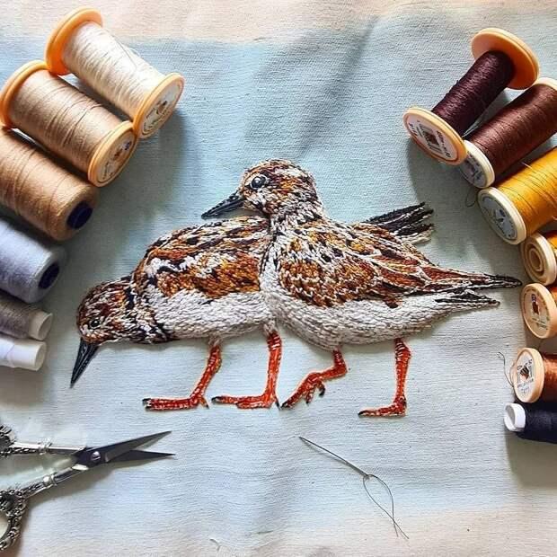 Объёмные вышивки, воспевающие красоту дикой природы