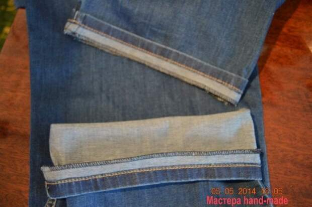 Как подшить джинсы с сохранением фабричного шва