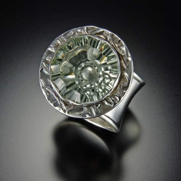 ювелирные образ Зеленый Аметист, Серебро кольцо