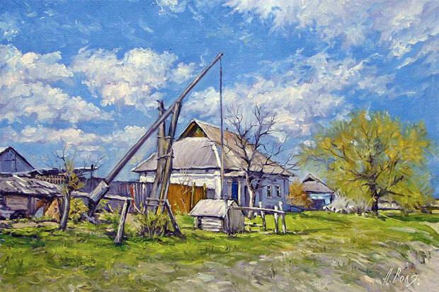 Лето в деревне, художник Александр Воля