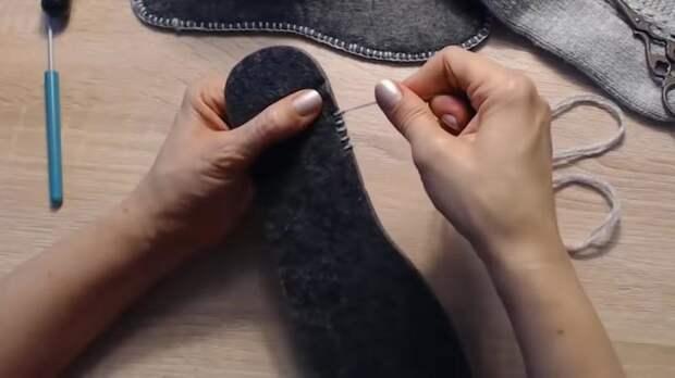 Оказывается, это так просто! Идеальная подошва для тапочек и носков