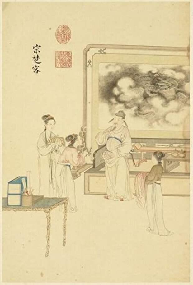 Чиновник Цзун Чукэ. Дин Гуаньпэн, династия Цин