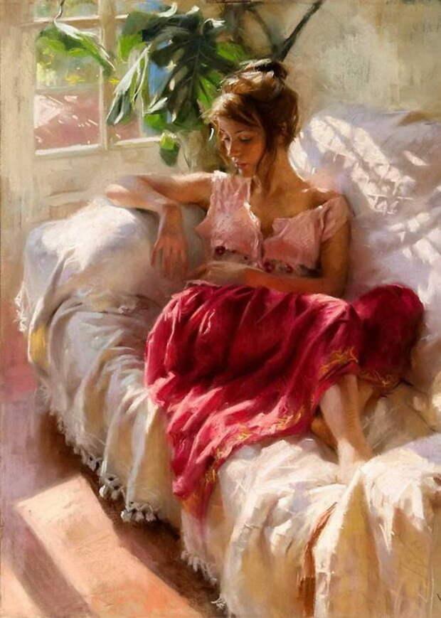 Пленительные красавицы на картинах Висенте Ромеро Редондо (Vicente Romero Redondo)