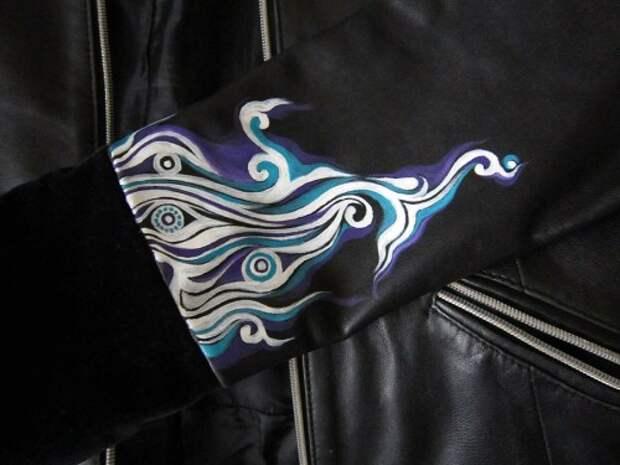Роспись куртки акрилом - автор Shraddha (21)