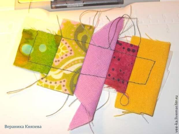 Как сделать лоскутную картинку в технике шитья по бумаге