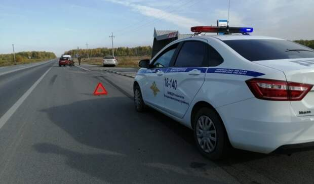 На Тюменском тракте Lada Priora сбила мужчину и его двухлетнего сына