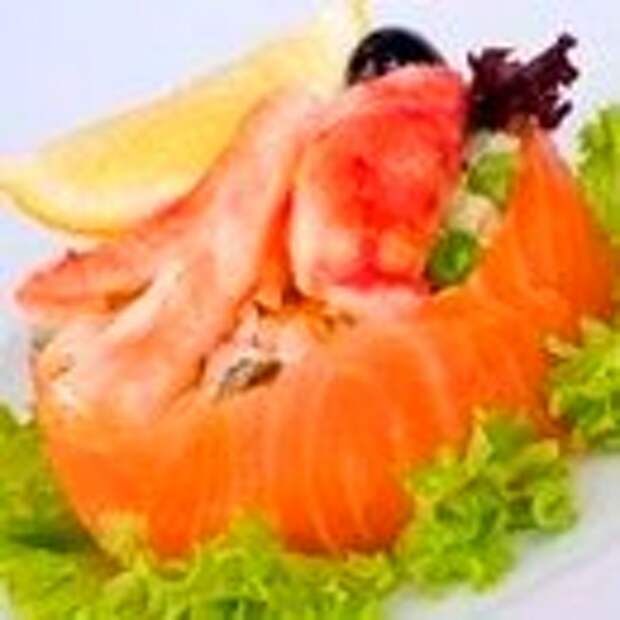 Салат Оливье с копченой рыбой