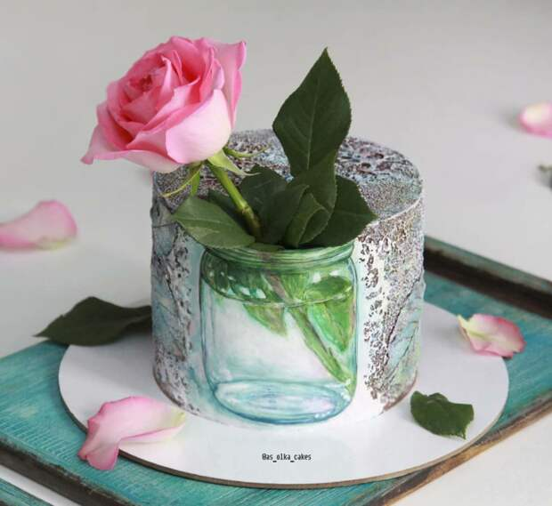 Торты с цветами и растениями (необычные)
