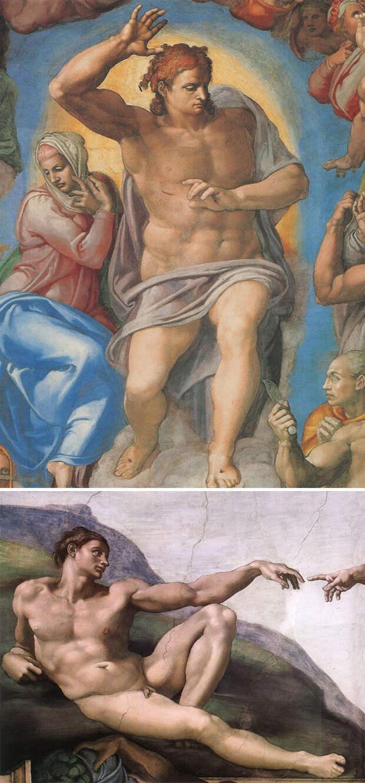 10. Если все красивы, обнажены и сложены, это Микеланджело.
